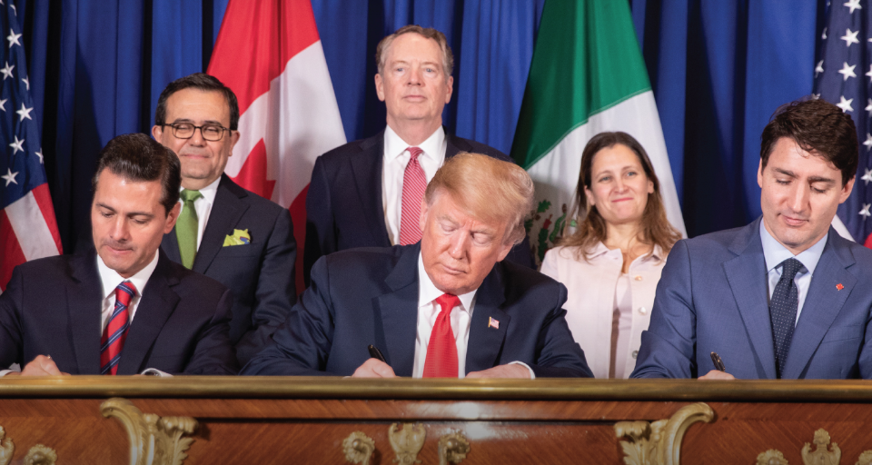 USMCA Trade Agreement Signing